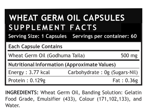 Wheat Germ oil supplements