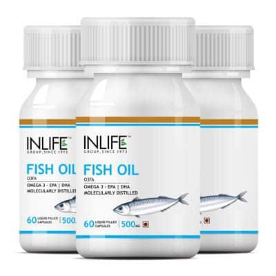 INLIFE Fish Oil Supplements - Omega 3 Capsules