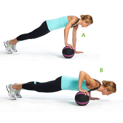 Roll The Ball With Uneven Push Up