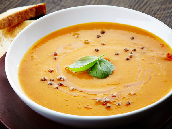 Moong Dal and Carrot Soup