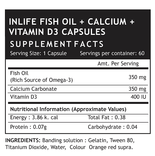 Fish Oil Cal Vd3 Supplement Facts