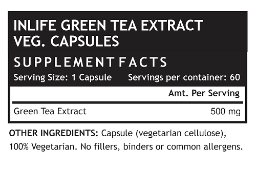 Green Tea Supplement Fact