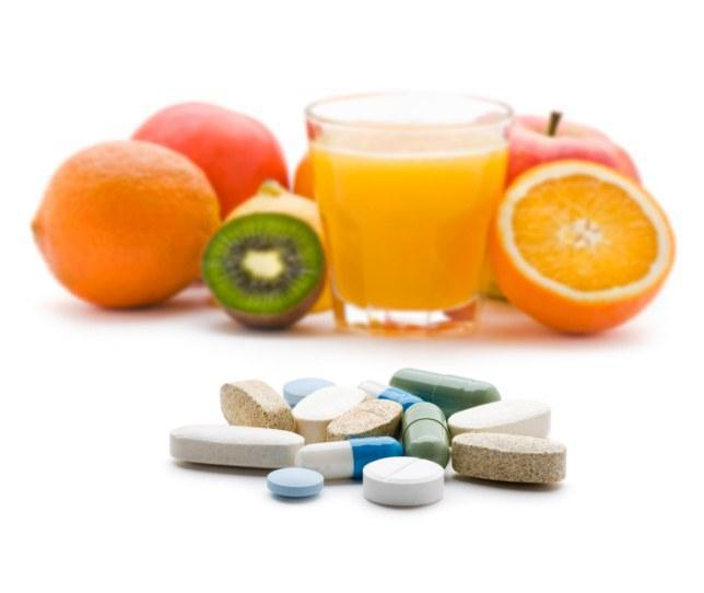 Vitamins for healthy body.