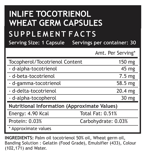 Tocotrienol supplement facts