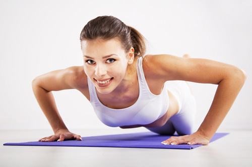 Breast enhancement exercises at home