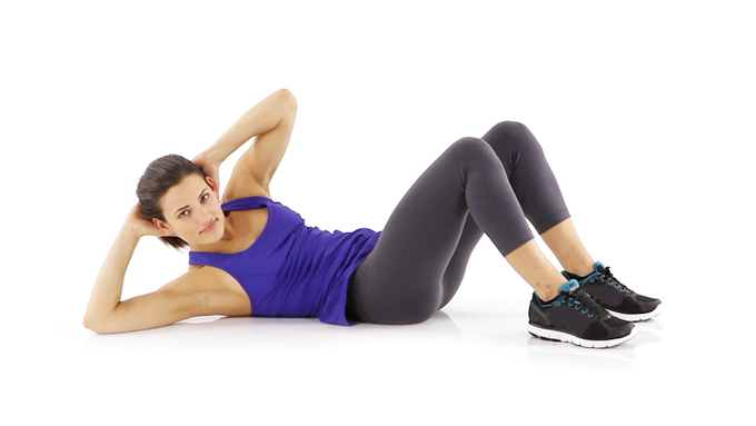 twist Crunches to lose belly fat