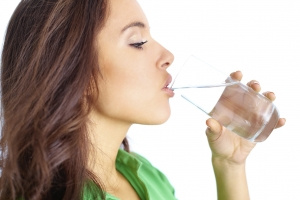 Drink plenty of water for dry skin