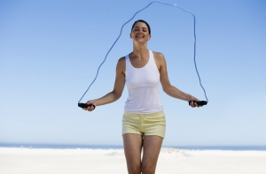 Skipping Woman - Aerobic Workouts for Weight Loss