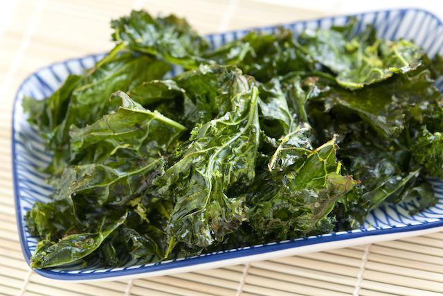 Snack on kale chips instead of potato chips