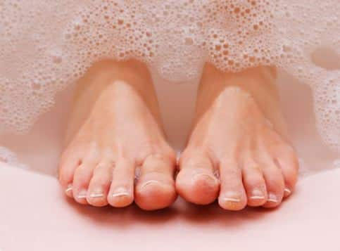Clean your feet daily