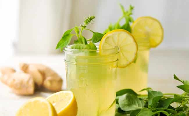 Ginger and lime tea