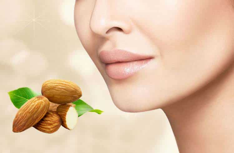 Almond Oil Gives Skin a Glossy and Flawless Appearance