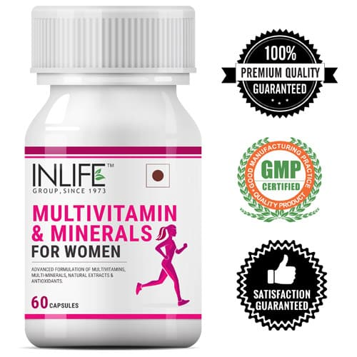 INLIFE Multivitamin & Minerals Supplement for Women - 60 Capsules