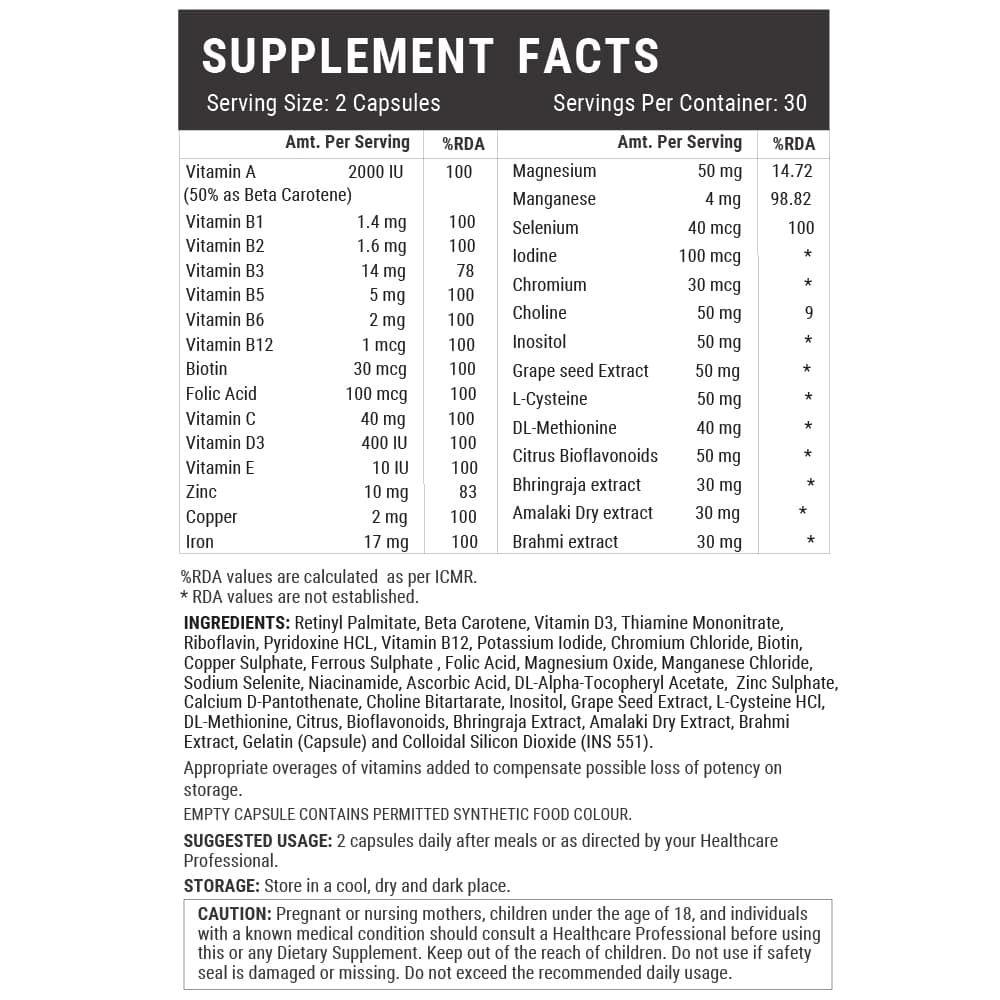 inlife advanced hair skin and nails supplement