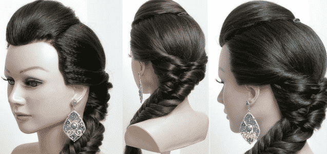 Braid With Small Pouf