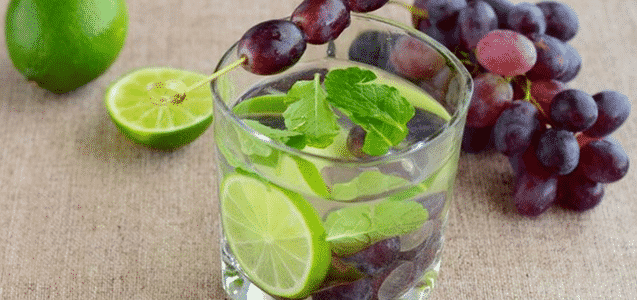 Black Grape Lime Infused Water