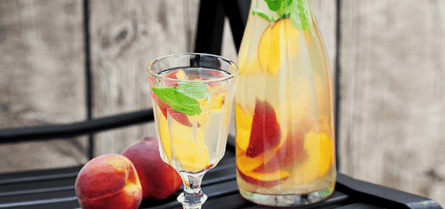 Peach Mint Infused Water