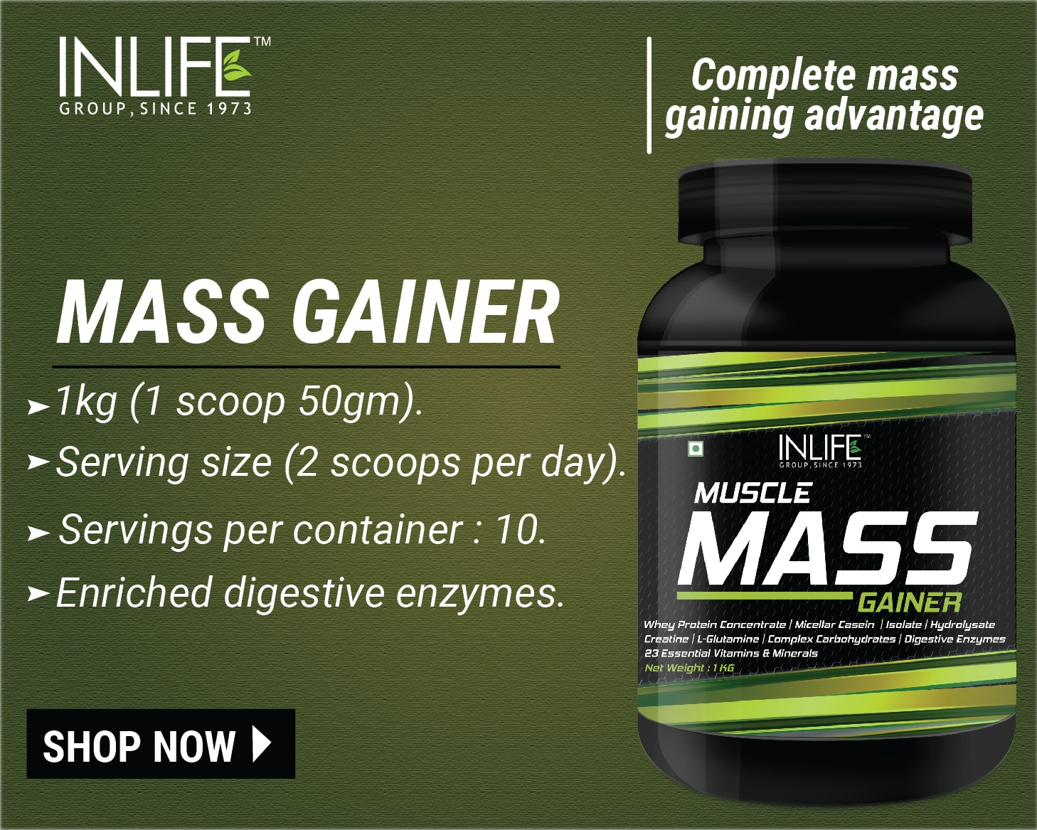 Inlife Muscles Mass Gainer