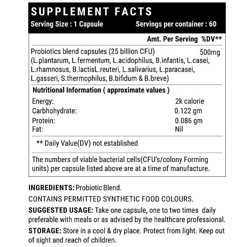 Probiotic forte supplement facts