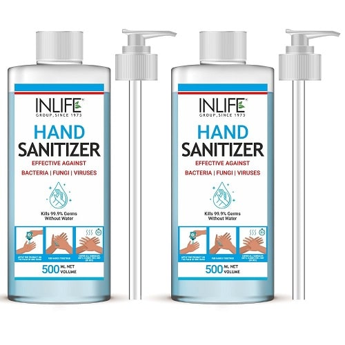 Sanitizer 500ml with Pump (Pack of 2)