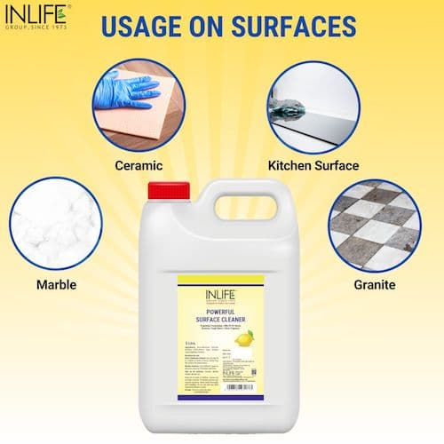 Surface cleaner suggested usage
