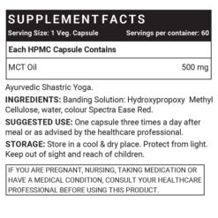 MCT Oil Supplement Facts