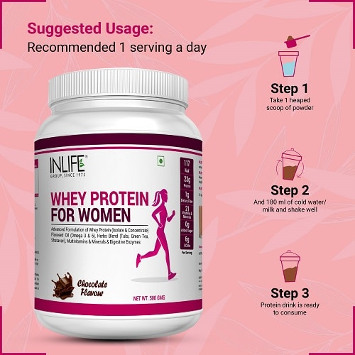 Whey Protein for Women Suggested Usage