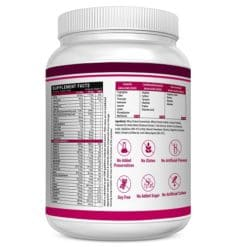 Whey Protein for Women Supplement facts