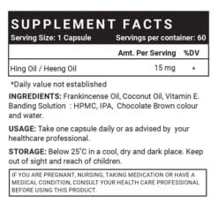 Hing Oil Supplement Facts